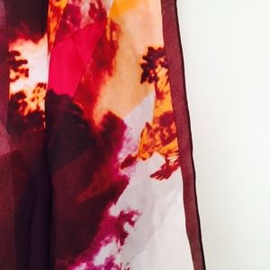 Gorgeous Silk Scarf - Reds, Plums and Orange